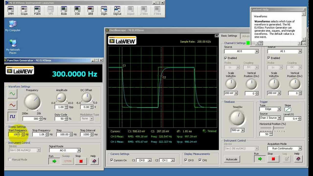 Ni Elvismx Mydaq Oscilloscope Demo Youtube