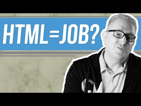 Is HTML knowledge enough to get a job?