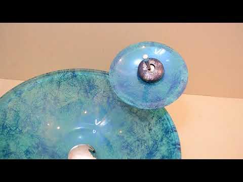 Накладная раковина для ванны из стекла Nova Foil аквамарин