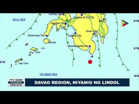 Davao Region, niyanig ng lindol