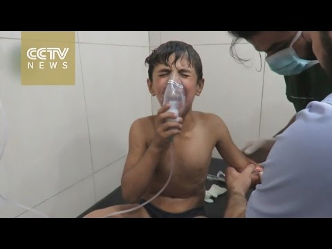 Syria rights group reports suspected gas attack in ISIL-held area