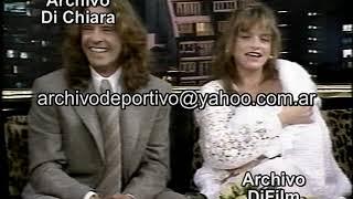 Susana Gimenez con Osvaldo Laport y su esposa presentan a su hija Jazmin 1995 DiFilm