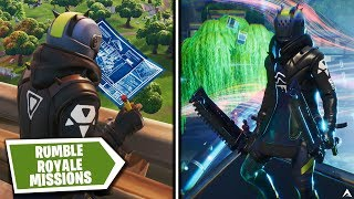 Todas las MISIONES Y RECOMPENSAS DE RUMBLE ROYALE en Fortnite Temporada X...