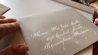 Wedding Envelope Calligraphy - Copperplate & modern script by Suzanne Cunningham