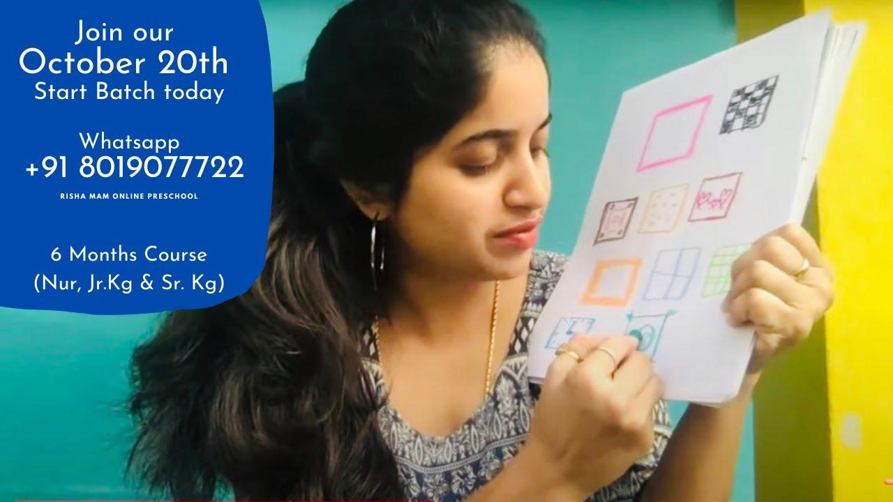Risha Mam Online Preschool | New batch start October 20th |Whatsapp +91 8019077722 Nur, Jr.Kg, Sr.Kg