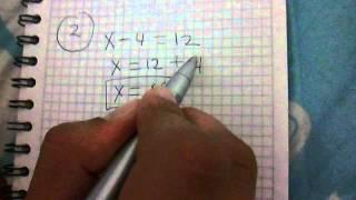 Ecuaciones  5 Ejercicios Fáciles