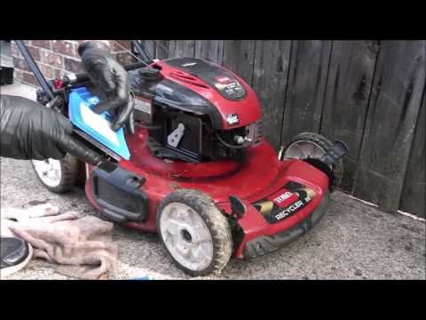 OILY TORO LAWNMOWER - Smokes, Will Not Run. TOO MUCH OIL! FIXED! Air Filter!