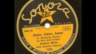 Anders Börje Sven Arefeldts orkester - Amor Amor Amor