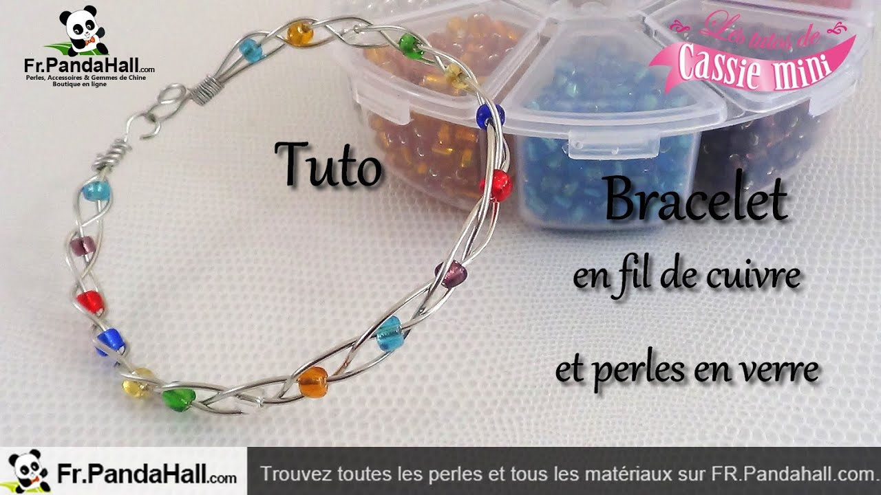 tuto bracelet en fil de cuivre et perles en verre fr. Black Bedroom Furniture Sets. Home Design Ideas