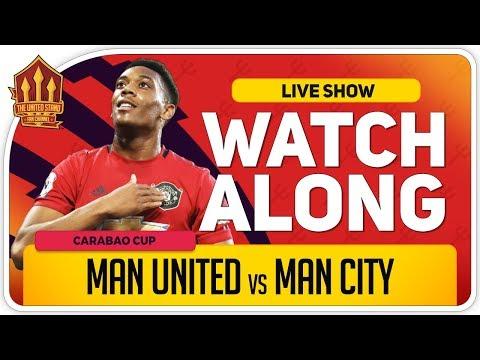 MANCHESTER UNITED vs MANCHESTER CITY | With Mark Goldbridge LIVE
