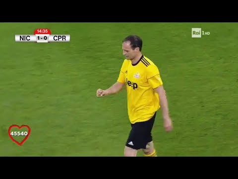 Massimiliano Allegri Plays Football on Charity Match - Partita del Cuore 2017 | 30/05/2017