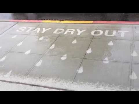 Seattle Artist Creates Sidewalk Messages That Only Appear When It Rains