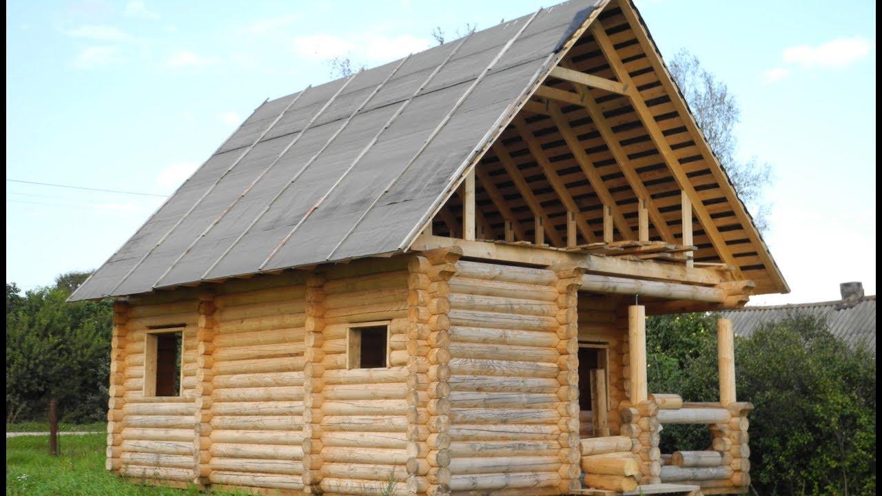 Сруб дома под крышей 6х6 с верандой ( Дома, Бани, Бытовки ...