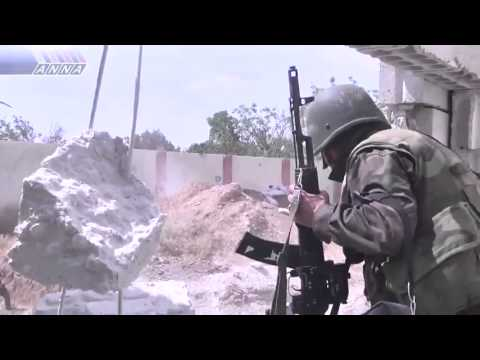 18+ Syrian Army In Front Line Scenes Attacking FSA Rebels | Syria War 2013 HD