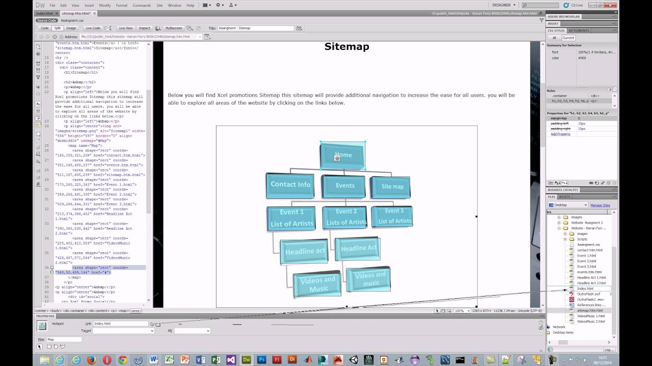 How to create a Site map - YouTube