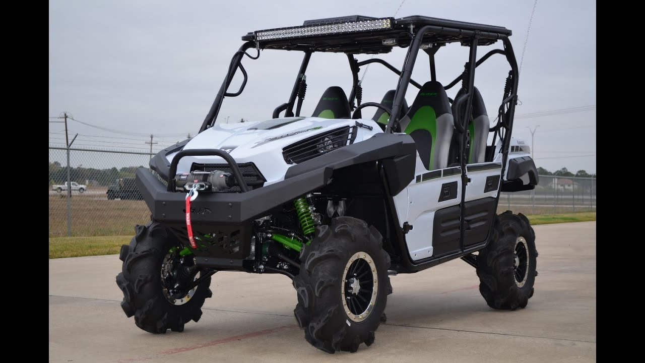 "$24,999: 2015 kawasaki teryx4 le white catvos 3"" lift and more"