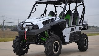 "$24,999:   2015 Kawasaki Teryx4 LE White CATVOS 3"" Lift and More!"