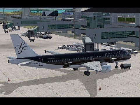 FSX】SFJ82 A320 RJFR-RJTT - YouTube