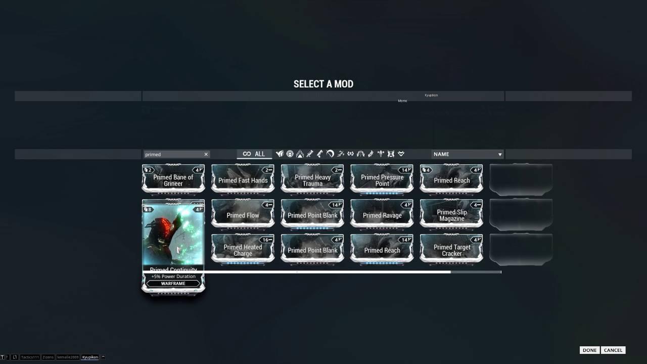 Warframe Fortuna Mesa Prime Strongest Build Guide ...