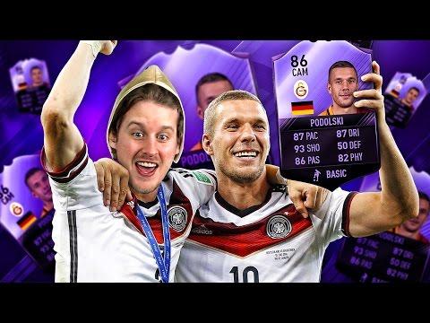 OMG PURPLE POLDI! HIGHEST RATED HERO LUKAS PODOLSKI! ULTIMATE PODOLSKI SQUAD! FIFA 17 ULTIMATE TEAM