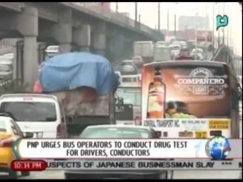 NewsLife: PNP urges bus operators to conduct drug test for drivers, conductors || Aug. 8, 2014