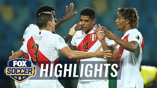 Peru beats Colombia, 2-1, thanks to Colombia's second half own goal   2021 Copa America Highlights