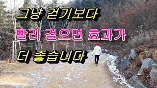 궁극의 빠르게 걷기로 다이어트효과, 천천히걷기와 빠르게…