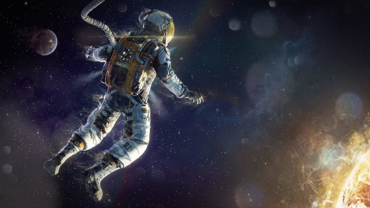 an astronaut floating in space - photo #16