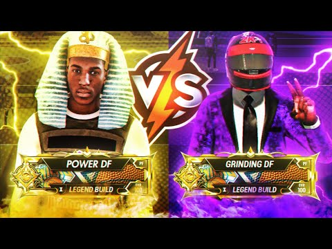 LEGEND Power DF Vs LEGEND Grinding DF 1v1 Court Best Of 5 Series!! Best Builds NBA 2K20