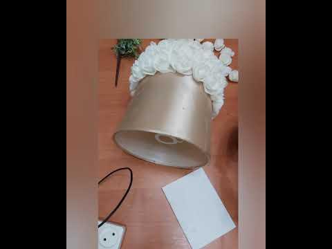 Как своими руками украсить настольную лампу