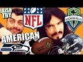 Irish People Try 'NFL / SEATTLE' American Football UnBoxing!!