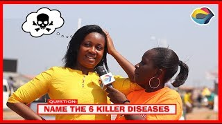 Name the Six Killer Diseases | Street Quiz | Funny Videos | Funny African Videos | African Comedy |