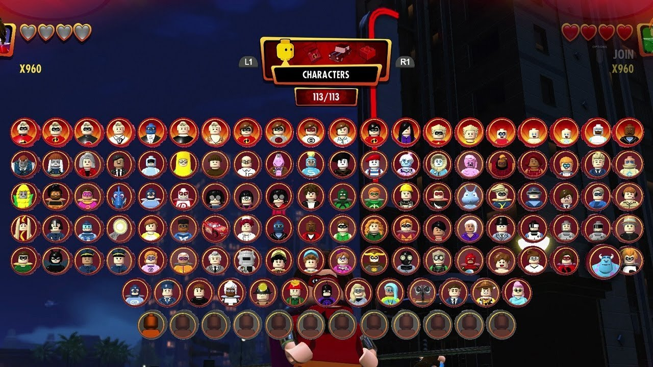 LEGO The Incredibles - All Characters Unlocked + Character Customizer Tour (All Options)