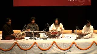 Strings attached : Bhajan Sopori plays stringed instrument - santoor