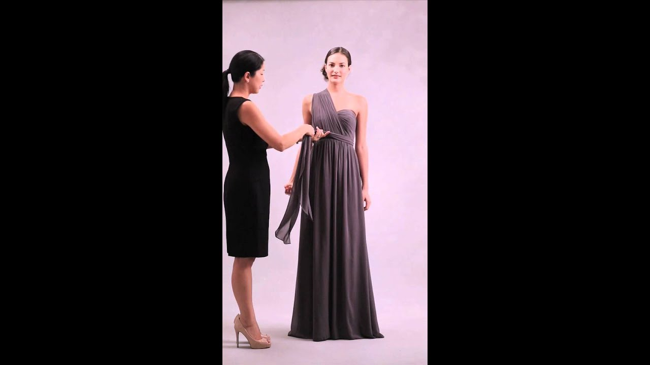 Nabi Dress-Style 3 (Clean One Shoulder w/ Front Bow/Sash) - YouTube