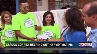 Carlos Correa helping out Harvey victims