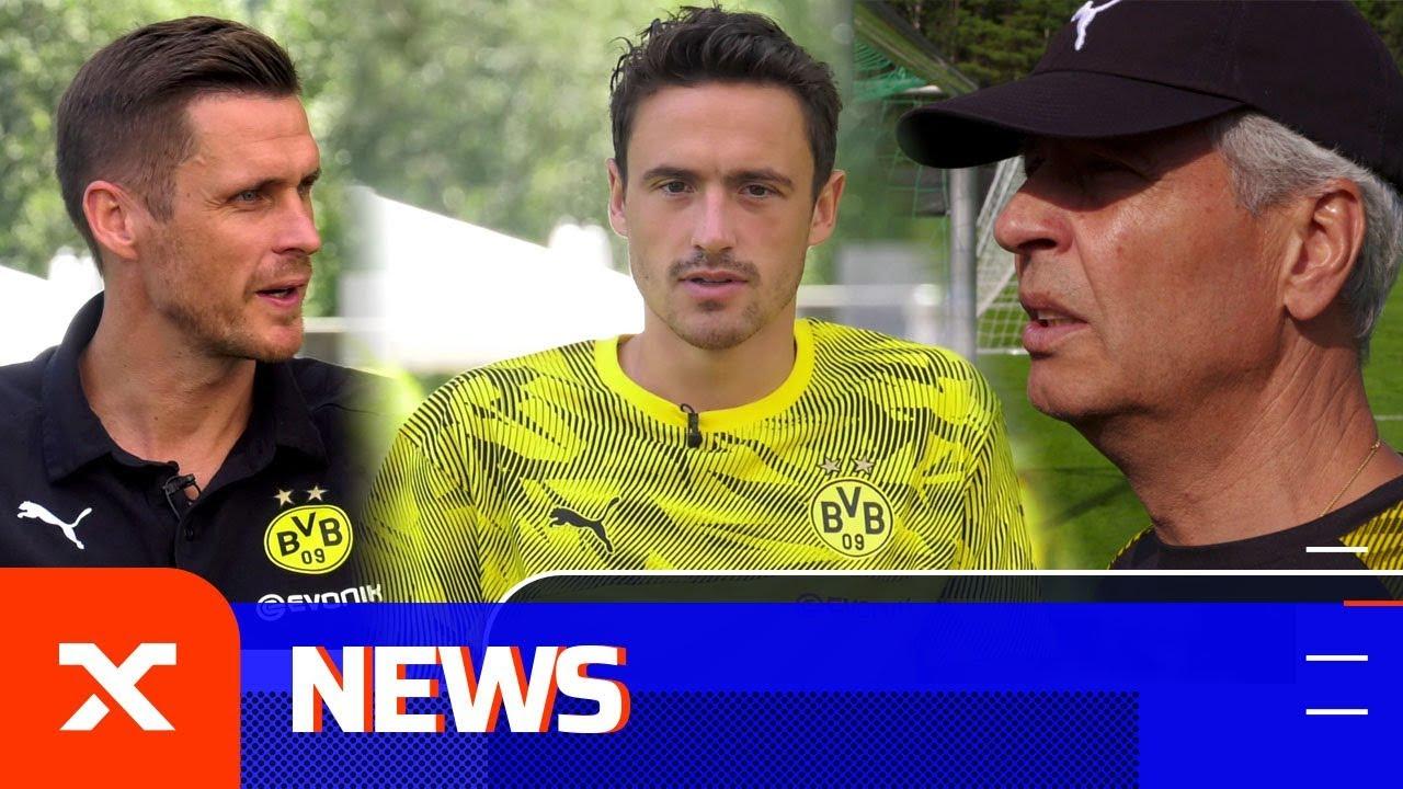 Lucien Favre, Thomas Delaney und Sebastian Kehl vor dem Supercup | Borussia Dortmund | SPOX