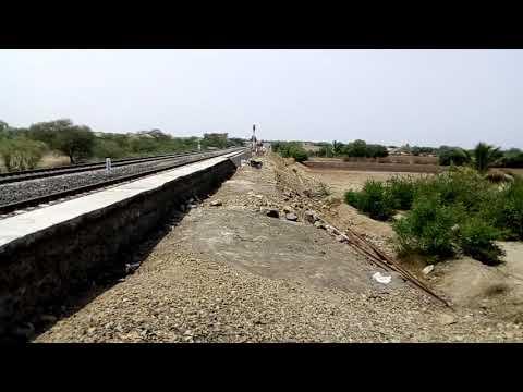 Solapur gadag demu arriving chorgi railway station