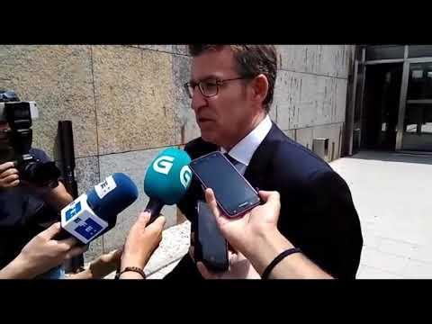 Alberto Núñez Feijóo se dirige a la prensa tras la muerte de Albor