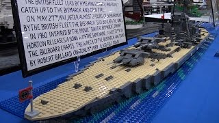 Lego Wwii Bismarck German Battleship - Brickworld Indy 2015