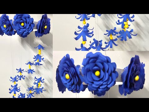 Handicraft ! Christmas diy decorations ! Paper wind chimes easy ! Paper wall hanging decoration easy