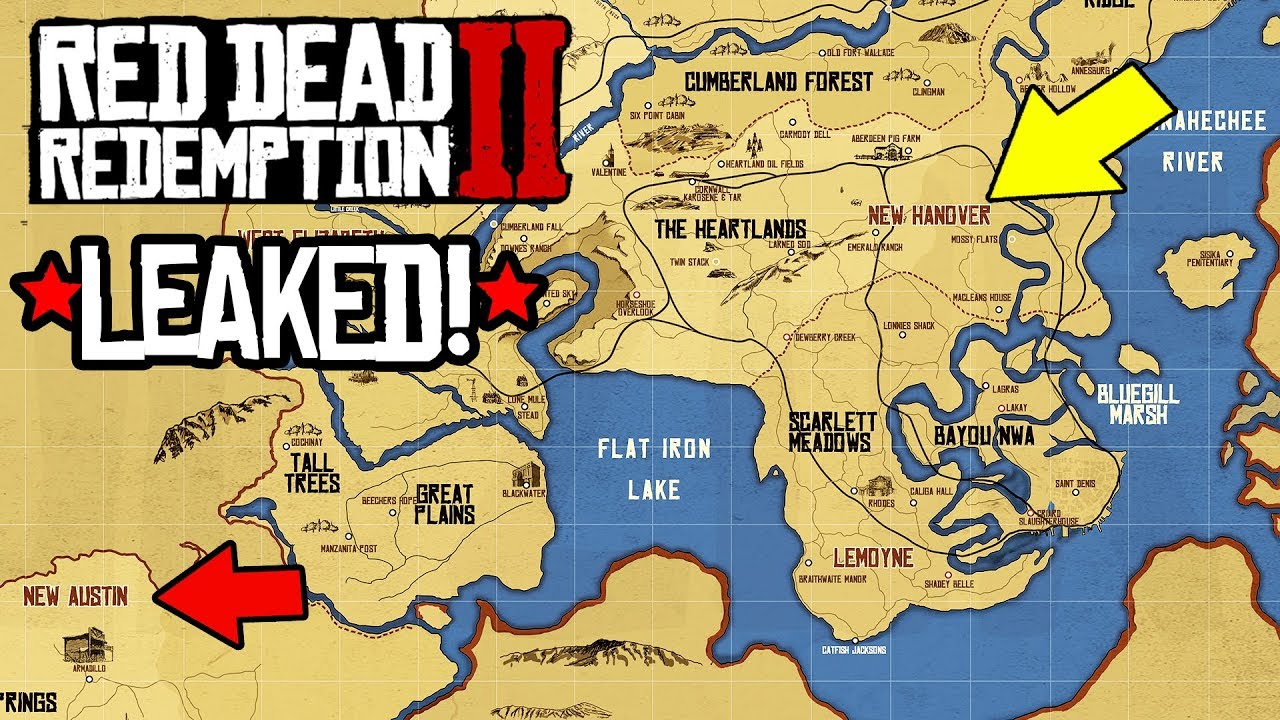 LEAKED* RED DEAD REDEMPTION 2 GAMEPLAY, RDR2 FULL MAP SIZE LEAKED