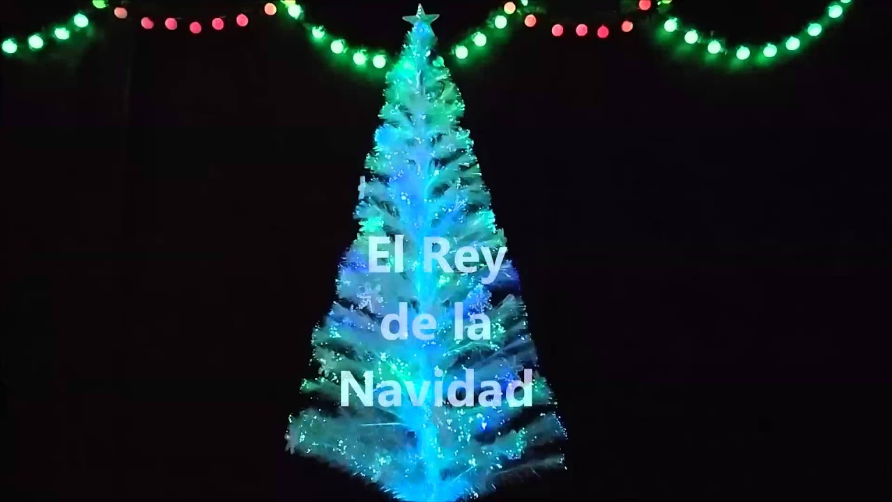 El rey de la navidad arbol de navidad de fibra optica y - Arbol navidad led ...