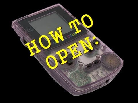 Nintendo Game Boy Color Console Disassemble - How to open ...