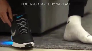 Cristiano Ronaldo and Nike Hyperadapt 1 0 power lace shoes