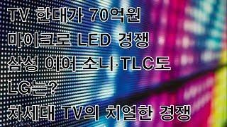 TV 한대가 70억원 마이크로 LED 경쟁 삼성 이어 소니 TLC도 LG는 차세대 TV의 치열한 경쟁