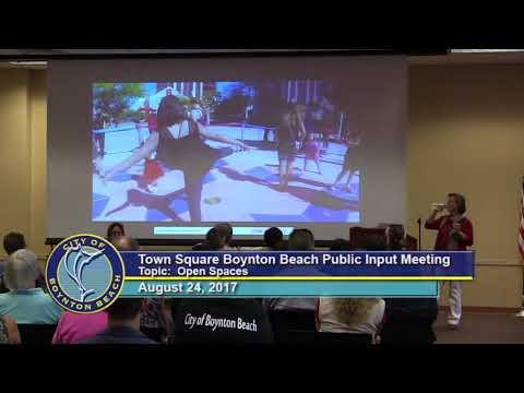 Town Square Public Input Meeting 8/24/17 - Open Spaces (Includes Public Art)