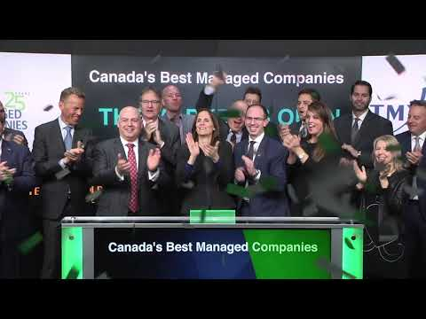Canada's Best Managed Companies opens Toronto Stock Exchange, April 12, 2018