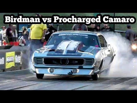 Procharged Camaro vs Birdman at Topeka, Kansas No Prep Kings