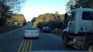 DUMP TRUCK FLIPS OVER FAIL! / RALEIGH, NC  HWY 98 12/16/2015